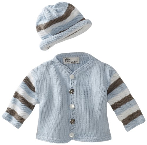 Gita Accessories Baby-Boys Newborn Hand Finished Sweater And Hat Set
