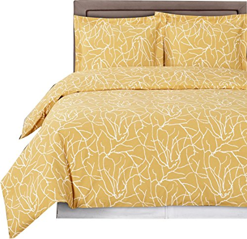 (Luxury 3pc - Ema Desert Sand- King/Cal king Duvet cover set 100% Egyptian Cotton 300 thread count fiber reactive prints duvet set By sheetsnthings)