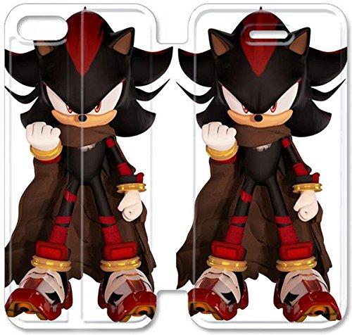 Flip étui en cuir PU Stand pour Coque iPhone 5 5S, bricolage 5 5S étui de téléphone cellulaire en cuir Coque Case Game Boy Sonic The Hedgehog 5 N6H9EK personnalisé personnalisé Coque iPhone