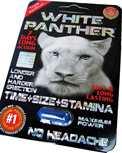#1 White Panther ™. ACT Fast !! Male Stamina Sexual Power Enhancement (6) Pills **Single Package