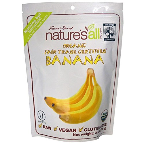 Nature's All, Organic Banana, 2.5 oz(Pack of 1)