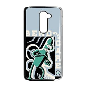 Bend With Care Cartoon LG G2 Cell Phone Case Black VC1604G8