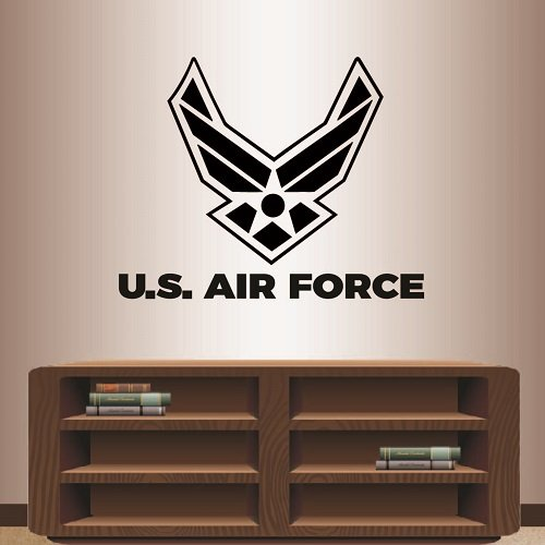 In-Style Decals Wall Vinyl Decal Home Decor Art Sticker U.S. Air Force Wings Star Emblem Logo Symbol Army Military Sign Room Removable Stylish Mural Unique Design 2436