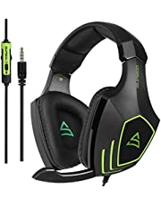 SUPSOO G820 Multi-Platform Over Ear Xbox one mic PS4 Gaming Headset Bass Gaming Headphones with Microphone For New Xbox one PS4 PC Laptop Mac iPad iPod