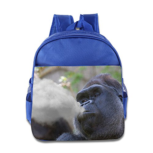 funny-harambe-smoking-backpack-school-bag-for-1-6-years-toddler-royalblue