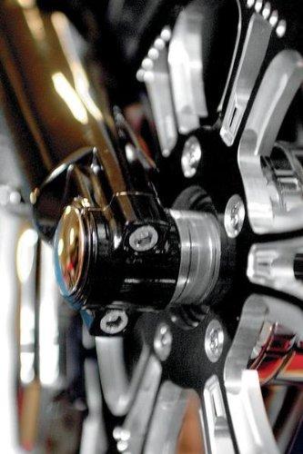 Klock Werks Lower Fork Leg Axle Cap Black for Harley Davidson FL 00-10 ()