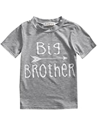 Toddler Boys Girls Sibling Shirts for Big Sister and Brother, Hipster Design, 2-7T