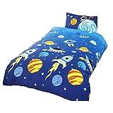Rockets Childrens/Boys Single Duvet Cover Bedding Set (Twin) (Multicolored)