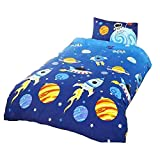 Rockets Childrens/Boys Single (Twin) Duvet Cover Bedding Set (Twin) (Multicolored)
