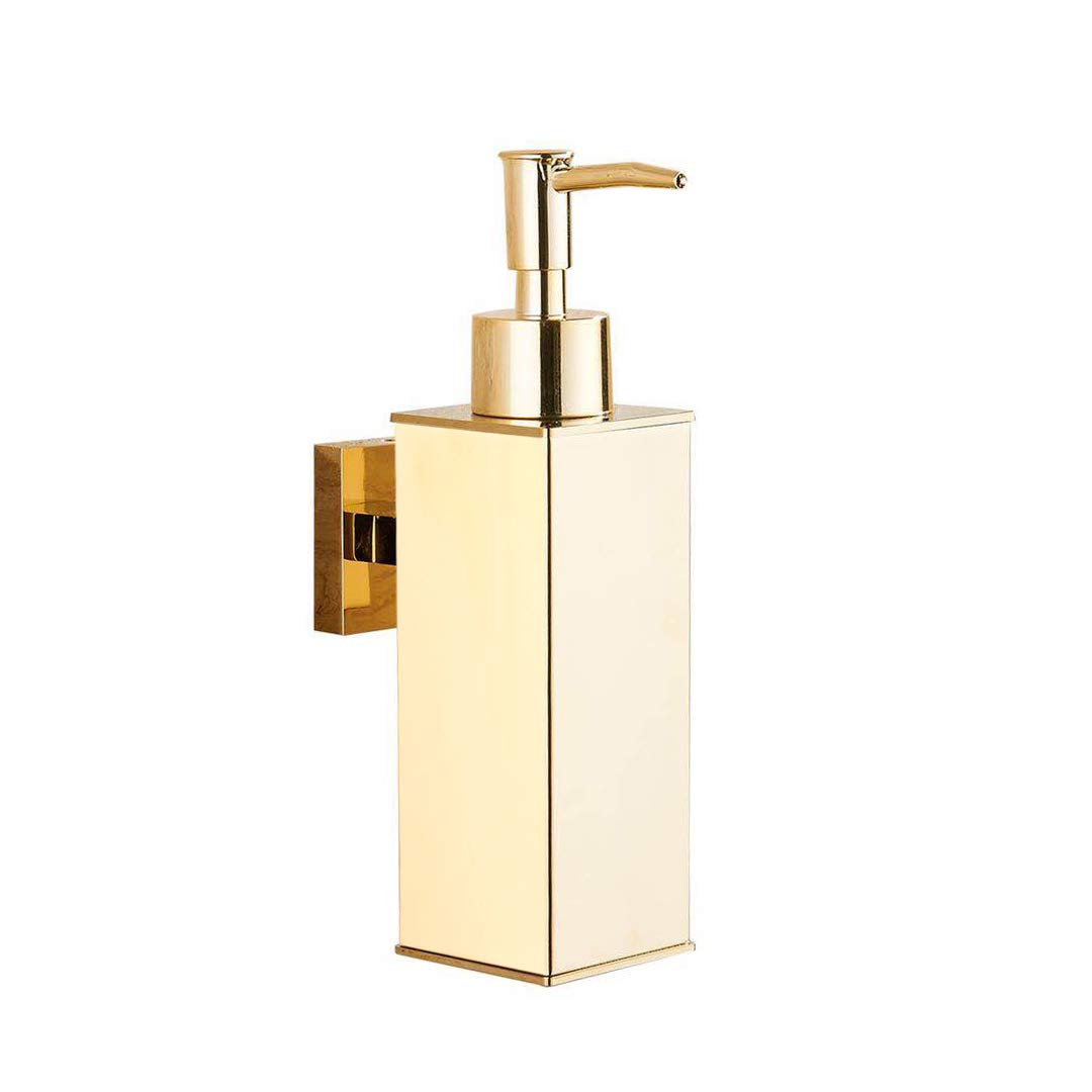 BGL Gold 304 Stainless Steel Soap Dispenser Wall Mount Kitchen Bathroom Hand Liquid Soap Dispenser (Gold)