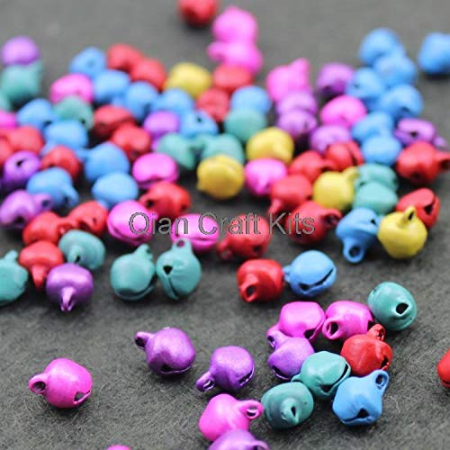 Dalab 3000pcs 10mm Silver Iron Jingle Bells Instant Party Mixed Colors or Silver Tone Lead Free
