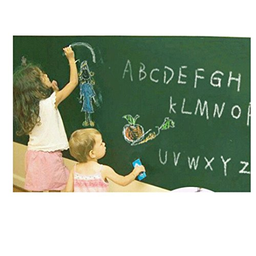 Hatop Self-Adhesive Wall Sticker Wall Paper board Sticker Chalkboard Contact Paper (Green) (Glow In The Dark Eye Contacts)