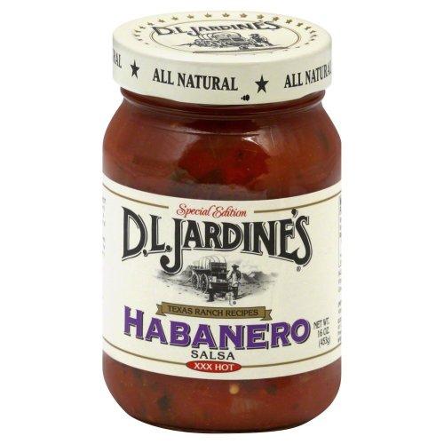 - D.L. Jardine's Habanero Salsa, XXX Hot 16 oz(Pack of 6)