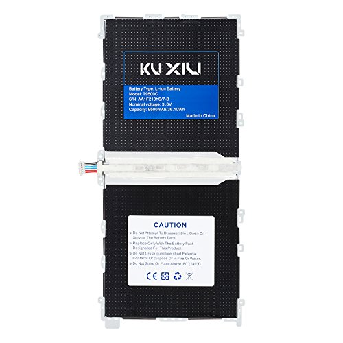 Kuxiu T9500C 9500mAh Replacement Internal Battery for Samsung Galaxy Note Pro 12.2' P900 P901 P905 T900 T905 SM-P907AZKAATT SM-T900 SM-T905 Tablets