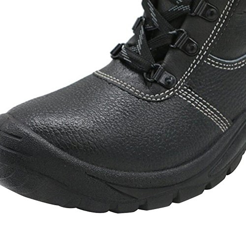 Men's Boot Composite Safety Toe Boot Boot Black Boot Steel Cattle Optimal Work Toe B fUdwTqn80