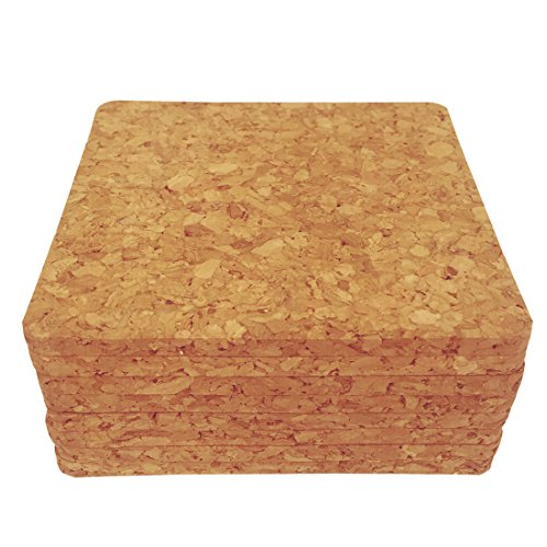 Backing, Square Cork Drink Coasters 4