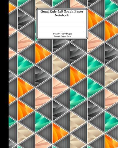 Quad Rule 5x5 Graph Paper Notebook. 8