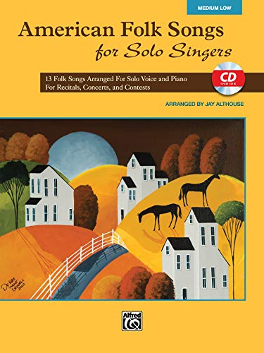 American Folk Songs for Solo Singers: Medium Low Voice (Book & CD)