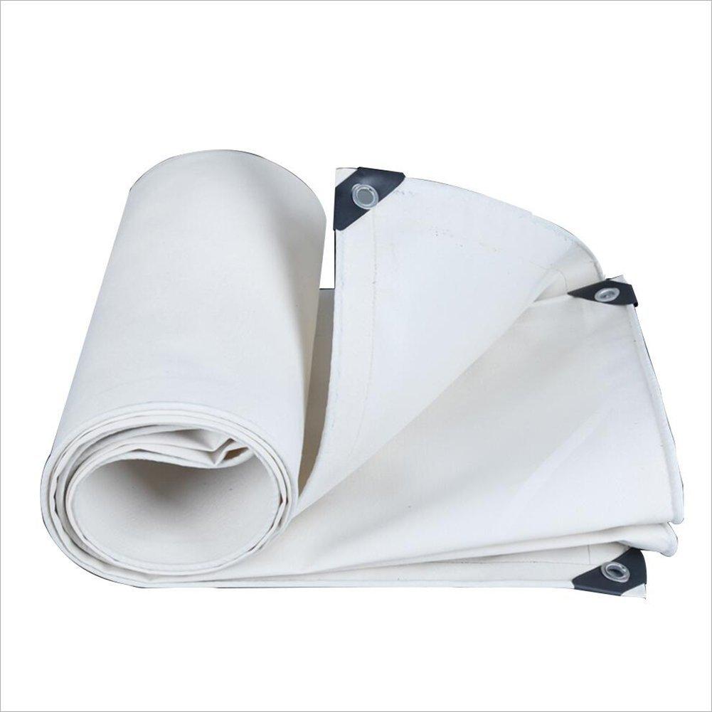 ZHULIAN Weiße Segeltuchplane, regendichte Sonnenschutzplanen-Picknickmatte, Cargo-Sonnencreme-Isolierung und verschleißfeste Außenplane