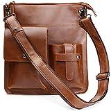 Casual Messenger Bag Leather Shoulder Bag Fashion Crossbody Bag for Man