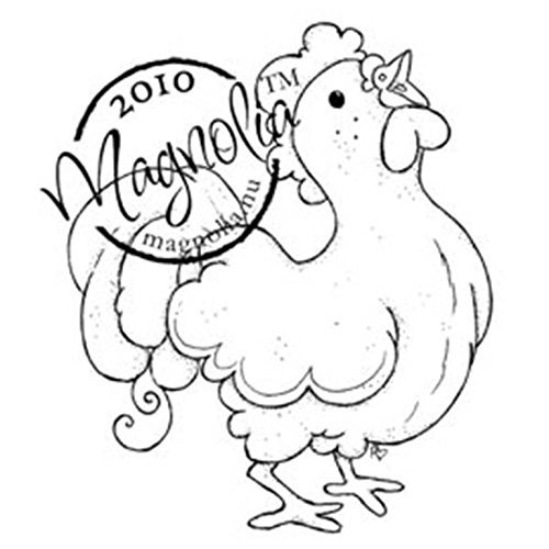 Magnolia Hoppy Easter Cling Stamp, 3.75 by 5.5-Inch, Rooster by Magnolia