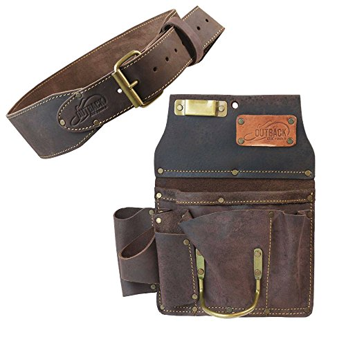 """Ox Pro 12-Pocket Drywall Tool Pouch and 3"""" Belt - Heavy Duty"""