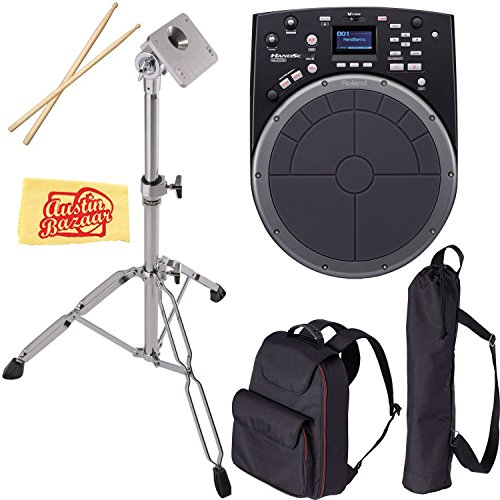 Roland HandSonic HPD-20 Digital Hand Percussion Bundle with Roland CB-HPD Carrying Bag, PDS-10 Stand, Drum Sticks, and Austin Bazaar Polishing Cloth