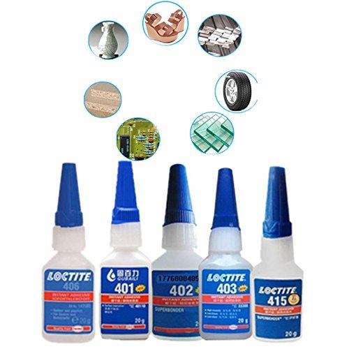 Hanbaili 10Pcs 406 20ml Glue Super Power Instant Adhesive Surface Repairing Fast White Plastic