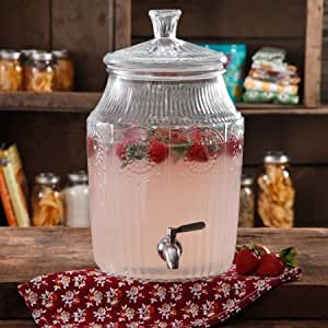 The Pioneer Woman Adeline   Gallon Glass Drink Dispenser
