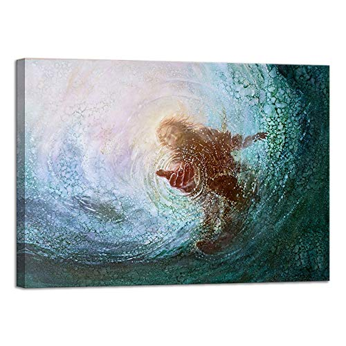 VIIVEI Jesus Wall Art Christ Poster Canvas Prints God Home Decor for Bedroom Living Room Pictures Decals HD Printed Painting Artwork Framed Ready to Hang (28
