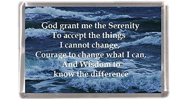 Grant me serenidad religiosa al por mayor paquete 12 imanes de ...