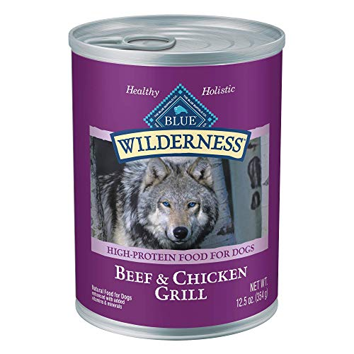 Blue-Buffalo-Wilderness-High-Protein-Grain-Free-Natural-Adult-Wet-Dog-Food-125-oz-cans-Pack-of-12