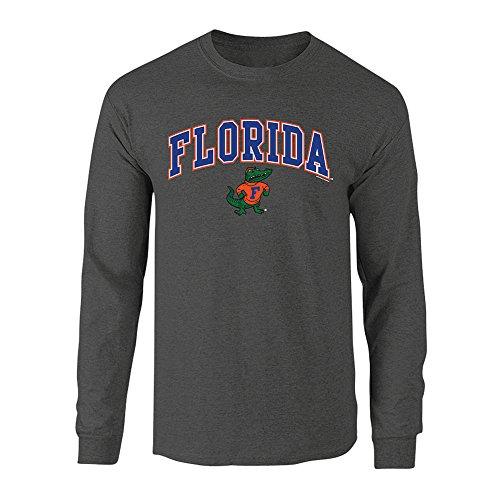 - Elite Fan Shop NCAA Men's Florida Gators Long Sleeve Shirt Dark Heather Arch Florida Gators Dark Heather Medium