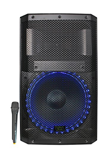 "Fully Amplified Portable 4500 Watts Peak Power 15"" Speaker WITH LED LIGHT"