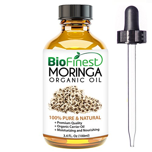 Biofinest Moringa Organic Oil - 100% Pure, Natural, Cold-Pressed - Premium Moisturizer - Soothe Acne, Psoriasis, Eczema, Dry Skins, Scars - FREE E-Book and Dropper (100ml)