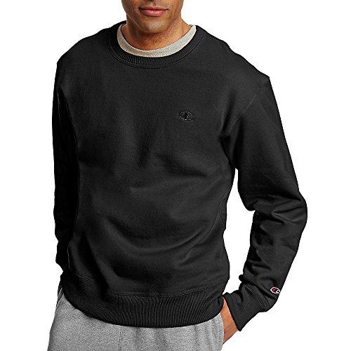 Champion Men's Powerblend Fleece Pullover Sweatshirt_Black_XL