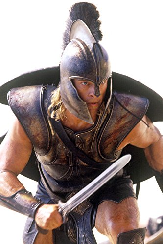 Troy Brad Pitt in Battle Armour Holding Sword as Achilles 18x24 Poster