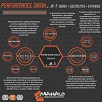 MAHALO PERFORMANCE DRINK 450 g. Bebida deportiva Isotónica avanzada con Electrolitos, Carbohidratos, Vitaminas y Minerales para consumir durante la actividad. (Frutos Rojos): Amazon.es: Salud y cuidado personal