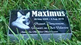 Personalised Pet Stone Memorial Marker Granite Marker Dog Cat Horse Bird Human 4'' X 7'' X 2'' Custom Design Personalized Akita Bulldog Bull Dog