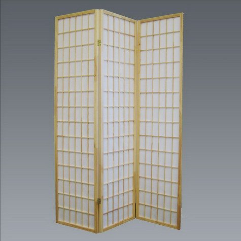 Brand New 18''x 71''H Natural Finish 3-Panel Wood Room Divider / Screen by Click 2 Go