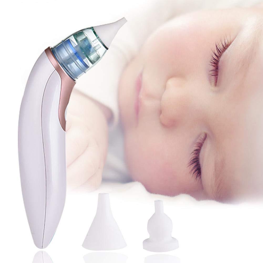 Starter Aspirateur nasal électrique de bébé d'USB, nettoyeur réglable de nez à piles - dispositif d'aspiration nasal sûr, rapide et hygiénique pour le nouveau-né et l'enfant en bas âge
