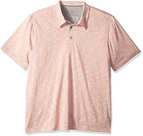 Weatherproof Vintage Men's Melange Jersey Polo Shirt, Tandoori Large - Jersey Vintage Polo Shirt