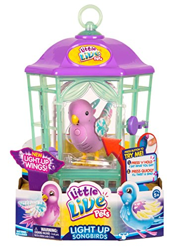 Little Live Pets Bird Cage-Rainbow Glow Childrens Toy