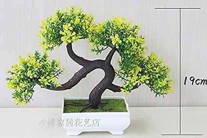Lof fei artificiali piante bonsai sfera decorazione ufficio tavolo