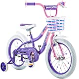 "16"" Schwinn Kids Bicycle Pink/Purple Twilight Rear Coaster and Front Hand Brake Bike for Girls with Training Wheels"