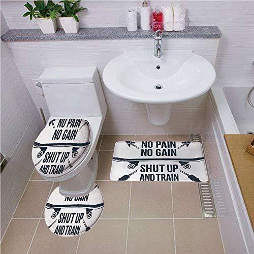 Bath mat Set Round-Shaped Toilet Mat Area Rug