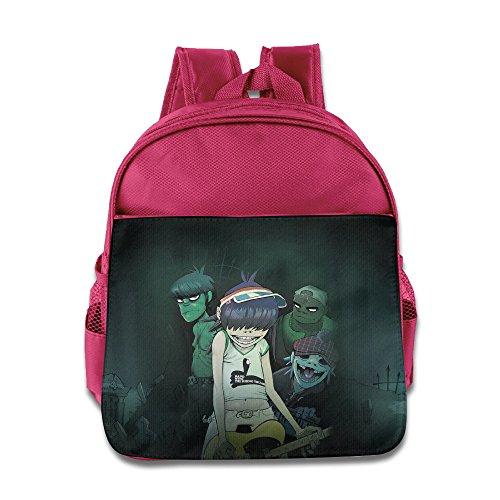 XJBD Custom Cool Gorillaz Kids Children Shoulders Bag For 1-6 Years Old Pink