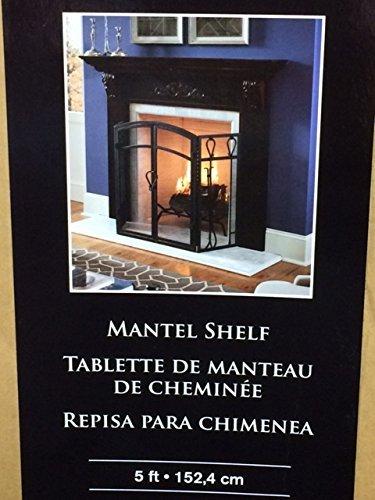 allen + roth 60-in W x 4.5-in H x 8-in D Cherry Poplar Traditional Fireplace (Poplar Mantel)