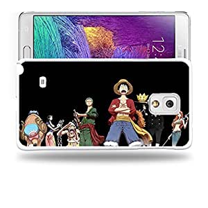 Case88 Designs One Piece Luffy Zoro Nami Usopp Nico Robin Protective Snap-on Hard Back Case Cover for Samsung Galaxy Note 4