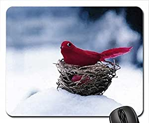 the-red-bird Mouse Pad, Mousepad (Birds Mouse Pad, Watercolor style)